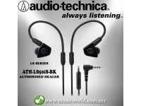 AUDIO TECHNICA - ATH-LS50iS BK Black In-Ear Monitor Headphones Earphones (LS50iS)