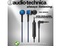 Audio Technica - ATH-CKR30iS BL Blue SonicFuel In-Ear Headphones Earphones (CKR30iS)