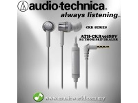 Audio Technica - ATH-CKR30iS Silver SonicFuel In-Ear Headphones Earphones (CKR30iS)