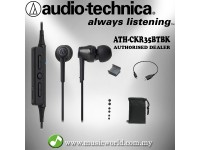 Audio Technica - ATH-CKR35BT Black Bluetooth Wireless In-Ear Headphones Earphones (CKR35BT)