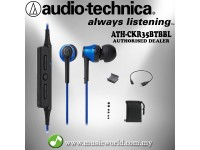 Audio Technica - ATH-CKR35BT Blue Bluetooth Wireless In-Ear Headphone Earphones (CKR35BT)
