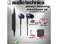 Audio Technica - ATH-CKR55BT BL Blue Bluetooth Wireless In-Ear Headphones Earphones (CKR55BT)