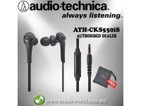 Audio Technica - ATH-CKS550iS Black Solid Bass In-Ear Headphones Earphones (CKS550iS)