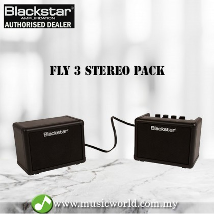 "BLACKSTAR Fly 3 Stereo Pack Mini Guitar Amplifier 6W 2x3"" (Fly3 Fly-3)"