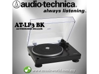 Audio Technica AT-LP3BK Black Fully Automatic Belt-Drive Stereo Turntable Black Disc Player (ATLP3BK)