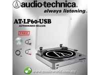 Audio Technica AT-LP60-USB GM Fully Automatic Belt-Drive Stereo Turntable Black Disc Player (ATLP60USB)