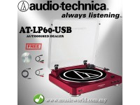 Audio Technica AT-LP60-USB RD Fully Automatic Belt-Drive Stereo Turntable Black Disc Player (ATLP60USB)
