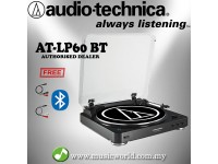 Audio Technica AT-LP60-BT Black Fully Automatic Wireless Belt-Drive Stereo Turntable (ATLP60BKBT)