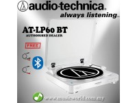 Audio Technica AT-LP60-BT White Fully Automatic Wireless Belt-Drive Stereo Turntable (ATLP60WHBT)