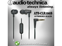 Audio Technica - ATH-CLR100iS BK Black Sonic Fuel In-ear Headphone Earphone (CLR100iS)