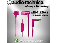 Audio Technica - ATH-CLR100iS PK Pink Sonic Fuel In-ear Headphones Earphones (CLR100iS)