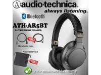 Audio-technica -  ATH-AR5BT BK Bluetooth On Ear Headphones Hi Res (Steel Black)
