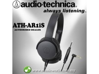 Audio Technica - ATH-AR1iS BK Black Folding on Ear Headphone with in-Line control (AR1iS)