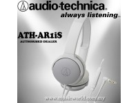 Audio Technica - ATH-AR1iS WH White Folding on Ear Headphone with in-Line control (AR1iS)