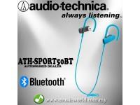 Audio-Technica ATH-SPORT50BT Blue Sport Bluetooth Wireless In-Ear Headphones Earphones (SPORT50BT)