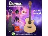 Ibanez AEG8E-NT Natural High Gloss Acoustic Electric Guitar With Pickup (AEG8E)
