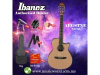 Ibanez AEG8TNE-NT Natural High Gloss Acoustic Electric Guitar With Pickup (AEG8TNE)