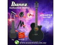 Ibanez AEG8TNE-BKF Black Flat Acoustic Electric Guitar With Pickup (AEG8TNE)