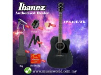 Ibanez Artwood AW84CE-WK Weathered Black Open Pore Acoustic-Electric Guitar (AW84CE)