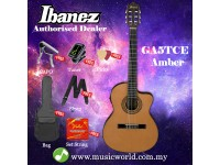 Ibanez GA5TCE-AM Amber High Gloss Thinline Classical Acoustic-Electric Concert Guitar (GA5TCE)