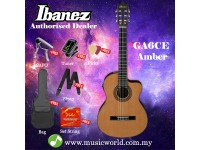 Ibanez GA6CE-AM Amber High Gloss Natural Classical Guitar Cutaway (GA6CE)