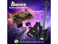Ibanez IJSR190E-BK Black Electric Bass Guitar Jumpstart Pack (IJSR190E)