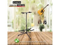 HAMILTON DOUBLE GUITAR STAND (BLACK FINISHED)