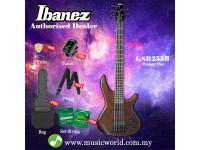 Ibanez Gio GSR255B-WNF Walnut Flat 5-String Bass Guitar (GSR255B)