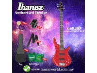 Ibanez Gio GSR205-TR Transparent Apple Red 5 string Bass Guitar (GSR205)