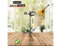 HAMILTON TRIPLE GUITAR STAND (BLACK FINISHED)