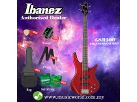 Ibanez GIO GSR200-TR Transparent Red 4-String Electric Bass (GSR200)