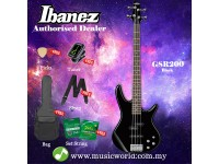 Ibanez GIO GSR200-BK Black 4-String Electric Bass (GSR200)