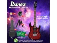 Ibanez Gio GRX70QA-TRB Transparent Red Burst Solid Body Electric Guitar (GRX70QA)