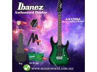 Ibanez Gio GRX70QA-TEB Transparent Emerald Burst Solid Body Electric Guitar (GRX70QA)