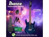 Ibanez Gio GRX70QA-TBB Transparent Blue Burst Solid Body Electric Guitar (GRX70QA)