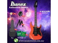 Ibanez Gio GRX55B-VRD Vivid Red Solid Body Electric Guitar (GRX55B)