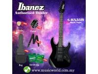 Ibanez Gio GRX55B-BKN Black Night Solid Body Electric Guitar (GRX55B)