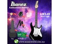 Ibanez Gio GRX40-BKN Black Night Solid Body Electric Guitar (GRX40)