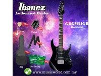 Ibanez RG miKro GRGM21GB-BKN Black Night Solid Body Electric Guitar (GRGM21GB)