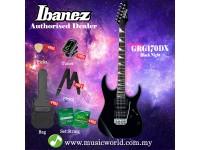 Ibanez GIO GRG170DX-BKN Black Night Solid Body Electric Guitar (GRG170DX)