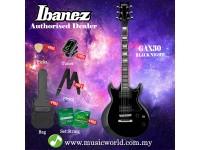 Ibanez GIO GAX30-BKN Black Night Solid Body Electric Guitar (GAX30)