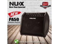 NUX PA50 50 Watts Powered Personal Monitor 6.5 Inch Woofer with 2 Channel (PA-50)
