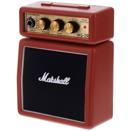 Marshall MS-2R 1 Watt Electric Guitar Micro Amp Speaker Battery Powered Amplifier Red (MS-2 / MS 2)
