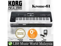 Korg KROME 61 Keys Synthesizer Workstation Keyboard Piano with Pedal and Headphone ( KROME61 )