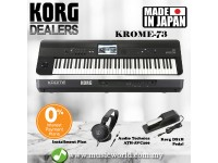 Korg KROME 73 Keys Synthesizer Workstation Keyboard Piano with Pedal and Headphone ( KROME73 )