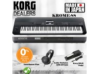 Korg KROME 88 Keys Synthesizer Workstation Keyboard Piano with Pedal and Headphone ( KROME88 )