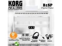 Korg B1SP 88 Key Digital Piano White With Bench Headphone Electric (B1 SP / B1-SP)