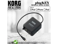 Korg PlugKey Mobile MIDI Audio Interface for iOS with Lightning Connector (Black)