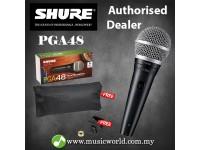 Shure PGA48 Cardioid Dynamic Vocal Microphone XLR Mic