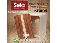 Sela SE 002 CaSela Satin Nut Cajon Quick Assembly Box Drum Percussion (SE002)